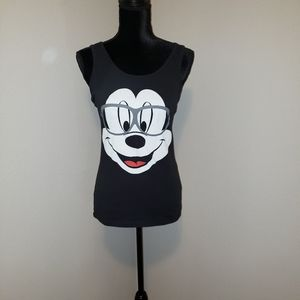 Mickey Mouse Black Tank Top Sz L Great Condition!